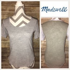 Madewell T-shirt Gray/Olive Green